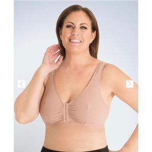Leading Lady taupe cotton front closure 48FGH